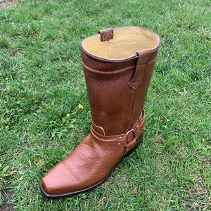 Men's Genuine Leather Cowboy/Biker Boots